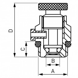 "Aerisitor manual 1/4"", metal"