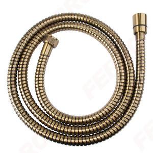 Furtun flexibil dus conic, metalic 150 cm, bronz antichizat