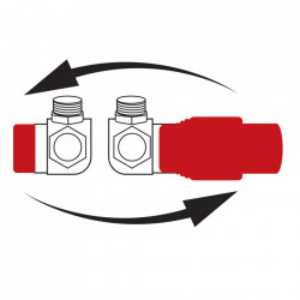 Set robineti radiator axiali cu cap termostatic, crom
