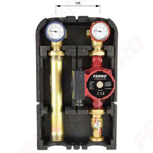 """Grup de pompare 1 1/2""""x1"""" pentru instalatii incalzire cu pompa GPA II 25-6-130"""