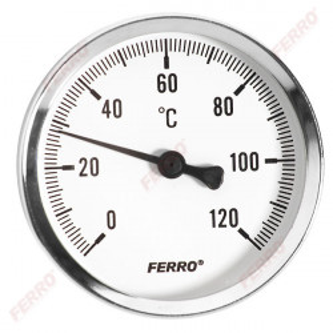"""Termometru D.100 mm 1/2"""", axial, 0-120°C"""