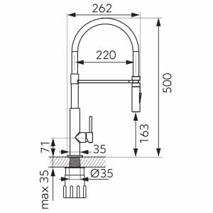 Baterie ferro Libretto picioare negre (5902194953788)
