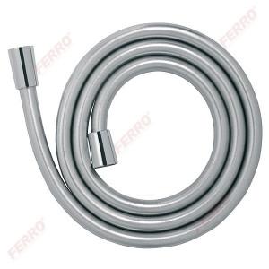 Furtun flexibil dus conic, anti/twist PVC 150 cm, argintiu