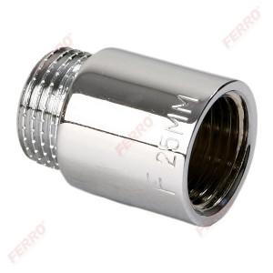 """Prelungitor alama cromata 3/4 """"x25 mm FI-FE"""