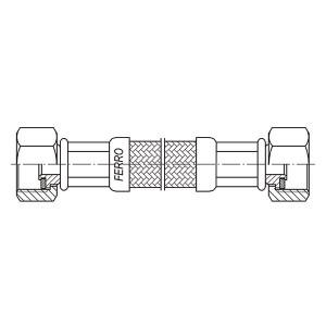 "Racord flexibil pentru apa 1/2""x1/2"" FI-FI 200cm"