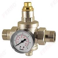 "Reductor de presiune cu manometru 3/4"" PN25 0,5-5,0 bar"