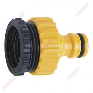 """Conector din plastic 3/4""""x1/2"""" FI pentru robinet"""