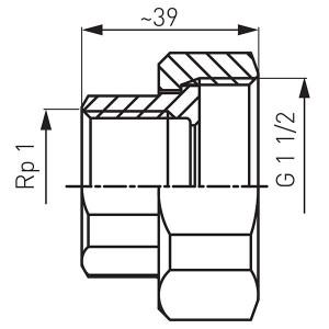 "Racord hollender teava-pompa din fonta 6/4""x1"" (set2buc) - SG17"