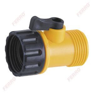 "Racord din plastic 3/4"" FI-FE cu robinet"