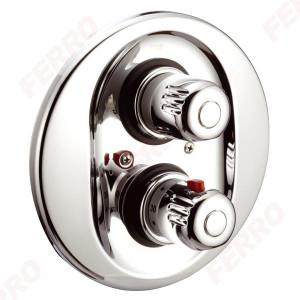 Baterie termostatata ingropata cada/dus Aquamat, crom cu 2 iesiri - 2650R,0