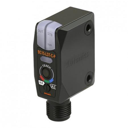 Color marker BC15-LDT-C-P,PNP NO/NC,Sn=15mm,convergent-reflective,konekt. M12,12-24Vdc,IP67 Autonics