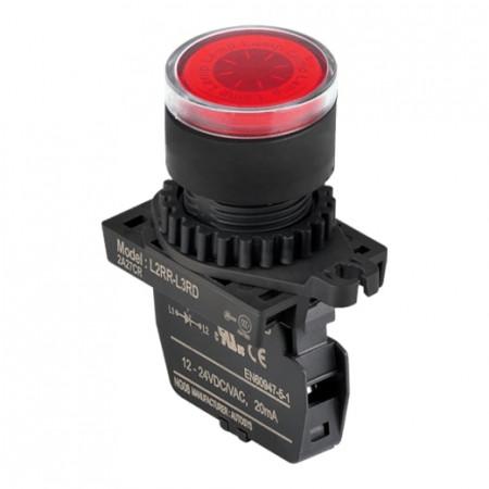 Signalna sijalica L2RR-L3RD crvena,12-24Vac/Vdc IP52 Autonics
