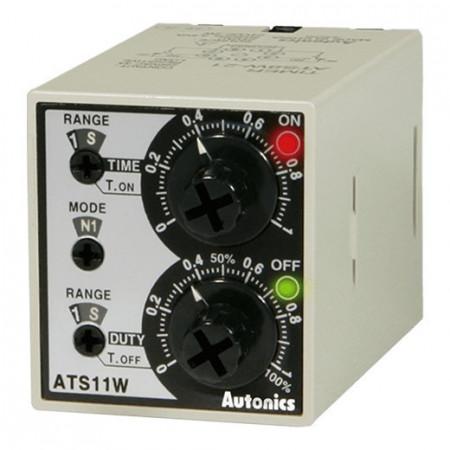 Tajmer ATS11W-41,disp.analogni,48x48mm,2 skale,2 vremena,2 relejna,11-pina,100-240Vac Autonics