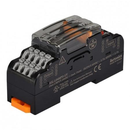 Terminalni blok SSR ASL-L04MP0-UY, AQZ202D, 60Vac~/dc 50/60Hz 2.7A, 24Vdc IP20 Autonics