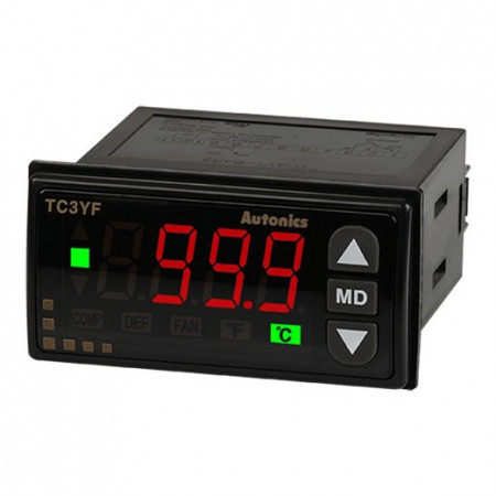 Termoregulator TC3YF-34R,disp.LED,1 red-3 cifre,72x36mm,NTC,relejni,100-240Vac IP65 Autonics