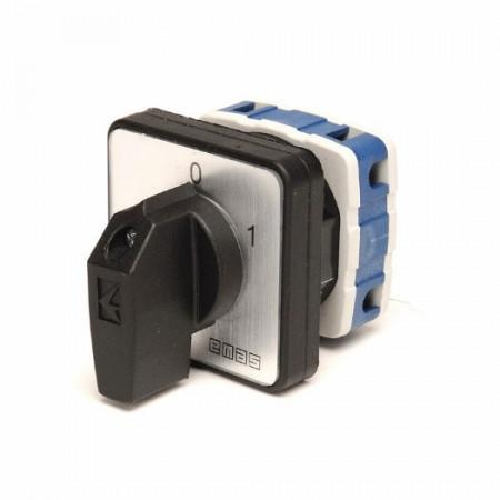 Grebenasti prekidač PSA025AK131S, 1x25A (0-1), 2 nivoa 60°, 6kA, 48x48mm IP54 Emas