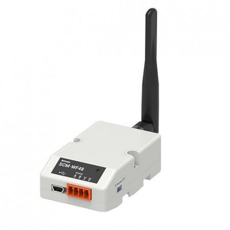 Komunikacioni konvertor SCM-WF48, USB/RS-485, TCI/IP(IPv4), WiFi, 100m, 24-28Vdc, IP20 Autonics