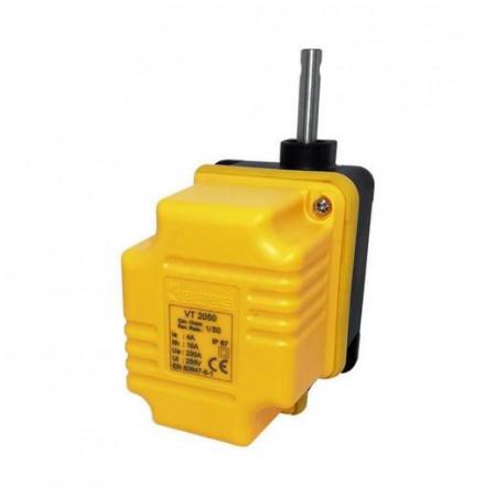 Rotacioni granični prekidač VT4100, 1/100, 4 prekidača, 4xCO, 20°, 10A 250Vac IP67 Emas