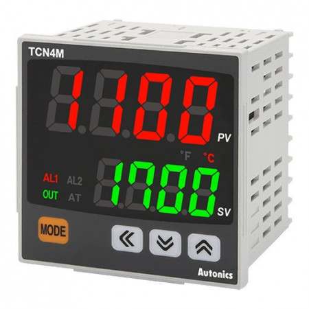 Termoregulator TCN4M-24R,disp.2 reda-4 cifre,72x72mm,2 alarma,relejni/SSR,100-240Vac IP65 Autonics