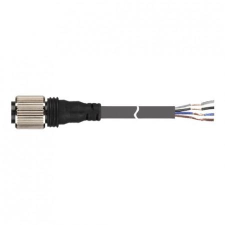 Konektorski kabal CIDH4-5, M12, ženski-ravni, DC 4 pina, 5m Autonics