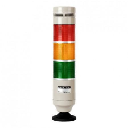 Signalni toranj MT8C-3ALGB-RYG, D86mm, 3 režima rada, 3 boje, zujalica 80dB, 24Vac/dc IP50 Autonics
