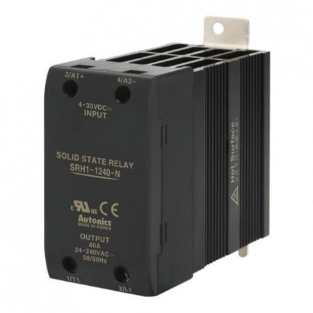 Solid State Relay SRH1-1240-N,integrisan hladnjak,1-fazni,ulaz 4-30Vdc, izlaz 24-240Vac,40A Autonics