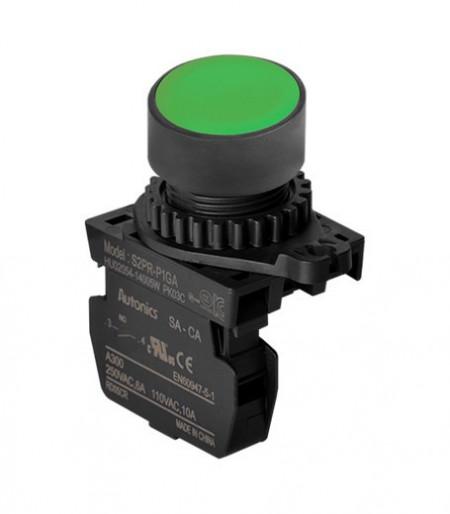 Taster zeleni S2PR-P1GAM, 1NO, 6A 250Vac IP52 Autonics