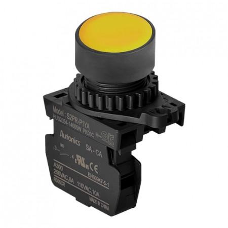 Taster žuti S2PR-P1YAM, 1NO, 6A 250Vac IP52 Autonics