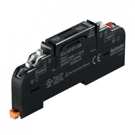 Terminalni blok SSR ASL-L01SP1-PY,AQG22124,24Vdc,75-240Vac~50/60Hz 2A,IP20 Autonics