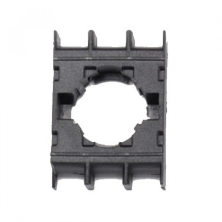 Adapter za tastere BA, za tri kontakt bloka, crni, ugradnja na fi22mm Emas
