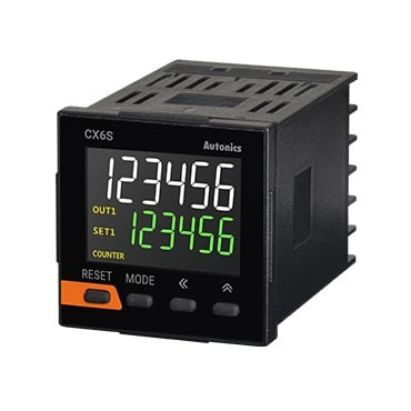 Brojač-Tajmer CX6S-2P2,dis.2 reda-6 cifara,48x48mm,2 relej,24Vac/24-48Vdc IP50 Autonics