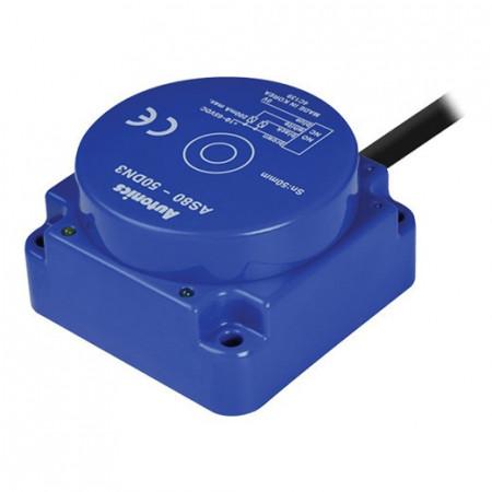 Induktivni senzor AS80-50DP3, PNP NO+NC, Sn=50mm, 80x80mm, kabal l=2m,4-žični 12-48Vdc,IP67 Autonics