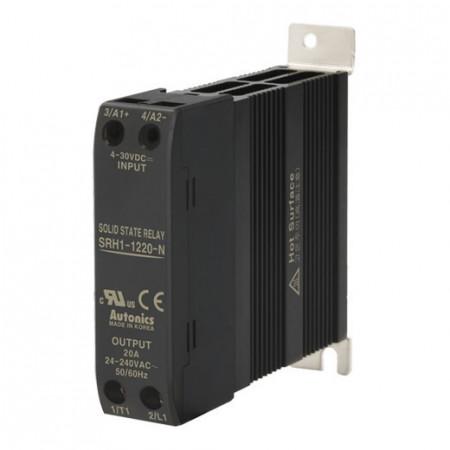 Solid State Relay SRH1-1220-N,integrisan hladnjak,1-fazni,ulaz 4-30Vdc,izlaz 24-240Vac,20A Autonics