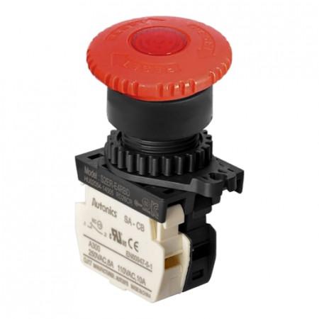Taster sve stop S2ER-E4RBDM, 1NC,zaokretni,40mm, LED indikacija 12-24Vac/dc, 6A 250Vac IP52 Autonics
