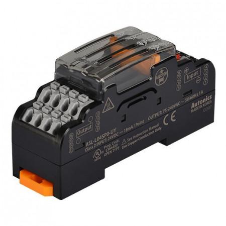 Terminalni blok SSR ASL-L04SP0-UY,AQG12124,24Vdc,75-240Vac~50/60Hz 1A,IP20 Autonics