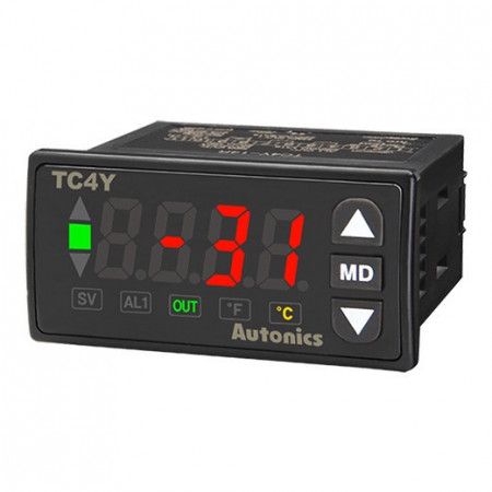 Termoregulator TC4Y-14R, disp.LED,1 red,4 cifre,relejni ili SSR,alarm,PID,100-240Vac IP65 Autonics