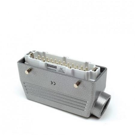 Industrijski konektor EBM24FU10, muški, bočni ulaz kabla, 24 polni, 16A, 690V, 6 kV, IP65 Emas