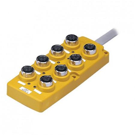 Konektorska kutija, PT8-3DP, 8 port,4-pin M12, PNP, LED indikacija,kabal l=5m,12-24Vdc IP67 Autonics