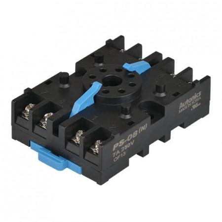 Podnožje PS-08(N), 8 pina, DIN šina, M8x0,7 šraf Autonics
