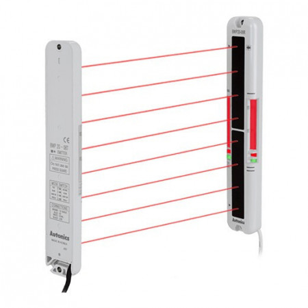 Prostorni senzor BWP20-12P,HSn220/H270mm,PNP NO/NC,Sn=0.1-5m,through-beam,3m,12-24Vdc IP40 Autonics