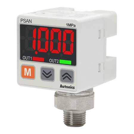 Senzor pritiska PSAN-L1CPV-R1/8 ,digitalni, PNP, 0-1000kPa,1-5Vdc,12-24Vdc IP40 Autonics