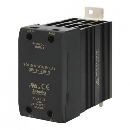 Solid State Relay SRH1-1230-N,integrisan hladnjak,1-fazni,ulaz 4-30Vdc, izlaz 24-240Vac,30A Autonics