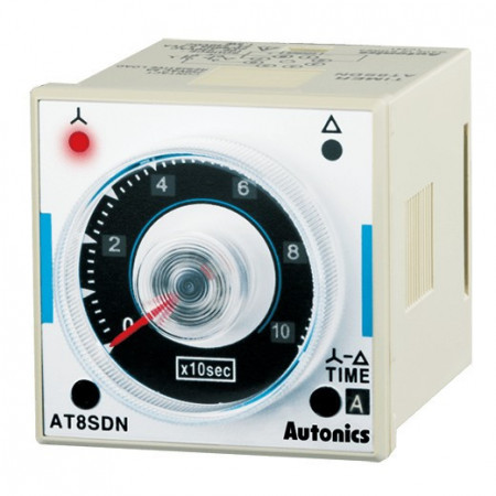 Tajmer AT8SDN zvezda-trougao,analogni,LED indikacija,24-230Vdc/ac,8-pina,2xSPDT-250Vac~5A Autonics