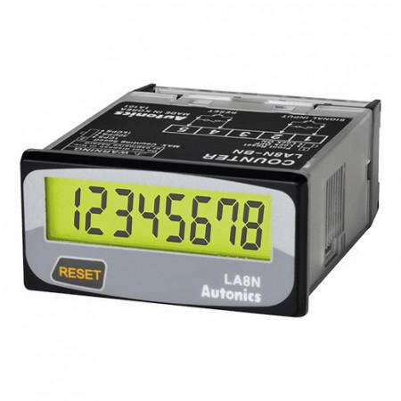 Brojač LA8N-BN-L, displej LCD-8 cifara,48x24mm, indikator, sa baterijom, 24Vdc(N) IP66 Autonics