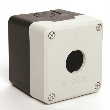 Kontrolna kutija PY1BOS, 1 otvor f22mm, crno-siva, IP65 Emas