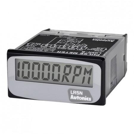 Puls-metar LR5N-B, disp. LCD-5 cifara,48x24mm,1 impul. ulaz,10000rpm,sa baterijom,3Vdc IP66 Autonics