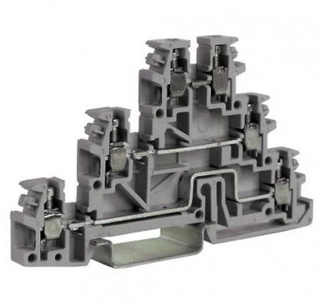 Redna stezljka trospratna TL200GR, 0,2-4mm2, SIVA, tip TLD.2/GR Cabur