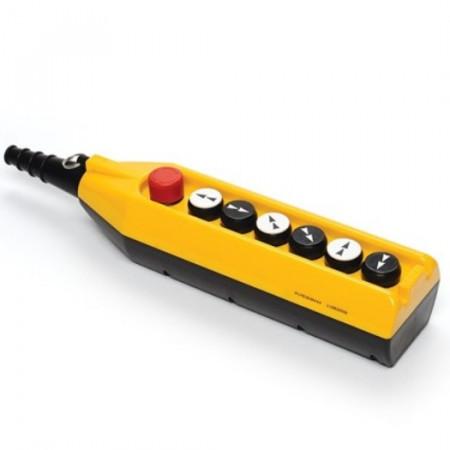 Tastatura za kranove PV7E30B444, 6 tastera+1 sve stop(NC), dupla brzina, 4A 250Vac IP65 Emas