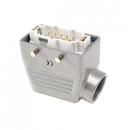 Industrijski konektor EBM10FU10, muški, bočni ulaz kabla, 10 polni, 16A, 690V, 6 kV,IP65 Emas