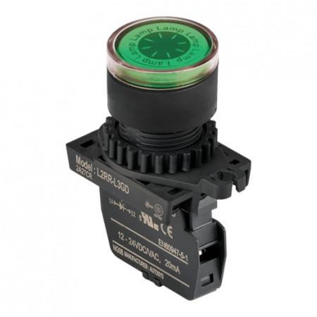 Signalna sijalica L2RR-L3GL zelena,110-220Vac IP52 Autonics